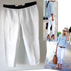 Lafayette 148 New York Pants - LAFAYETTE 148 NEW YORK WHITE CROPPED PANTS SZ 2X